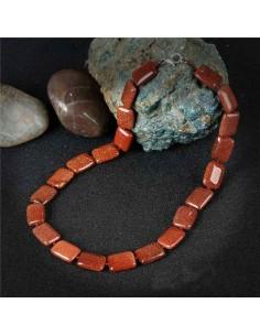 Collier pierre du soleil perles rectangles