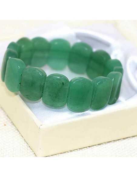 Bracelet aventurine pierres rectangles