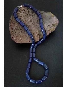 Collier lapis-lazuli cubique