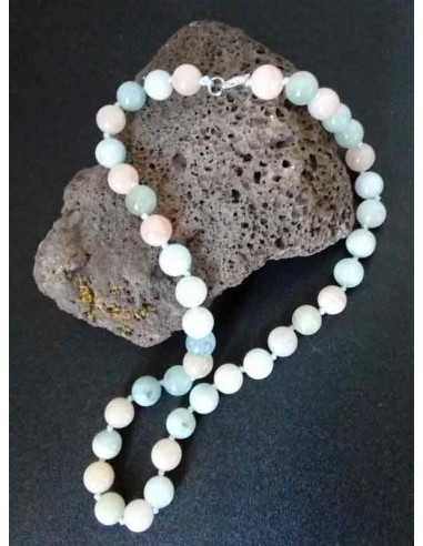 Collier amazonite pierres boules 8 mm