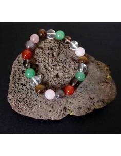 Bracelet chakras pierres boules 10 mm