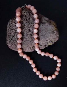 Collier pierre de soleil pierres boules 10 mm