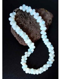 Collier pierre de lune modèle grappes