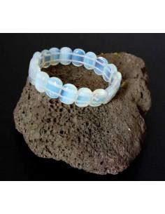 Bracelet pierre de lune perles ovales fins