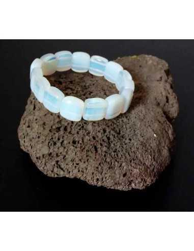 Bracelet pierre de lune pierres carrées
