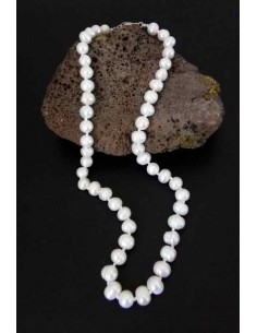 Collier perles d'eau douce naturelles 10 mm