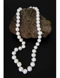 Collier perles d'eau douce naturelles 12mm