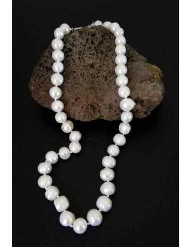 Collier perles d'eau douce naturelles 12 mm