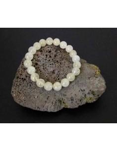 Bracelet quartz rutile pierres boules 10 mm
