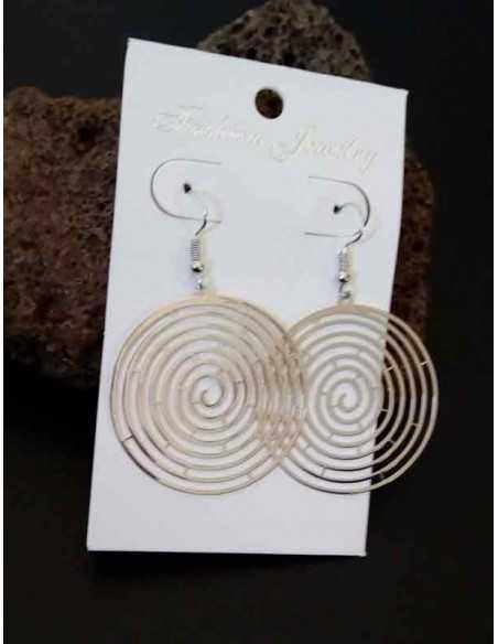Boucles d'oreilles fantaisie créoles spirales