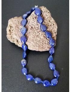 Collier lapis-lazuli gouttes