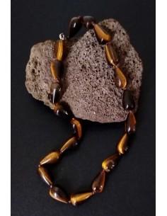 Collier oeil de tigre pierres coniques