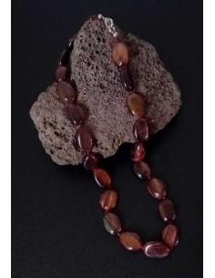 Collier oeil de boeuf ovale pierre naturelle