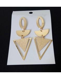 Boucles d'oreilles géométriques triangles pailletées