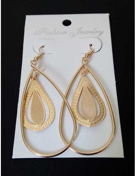 Boucles d'oreilles créoles ovales avec pendants fantaisie