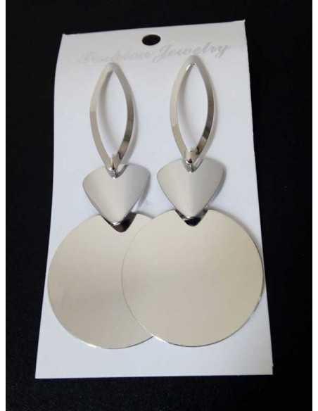 Boucles d'oreilles géométriques rondes fantaisie