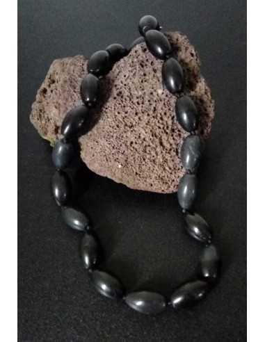 Collier onyx pierres tambour