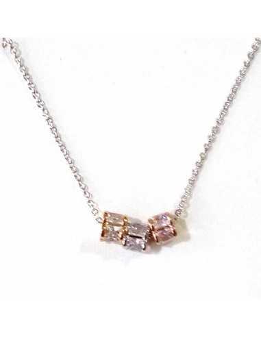 Collier pendentif anneaux coulissants