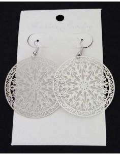 Boucles d'oreilles motifs mandalas filigranes