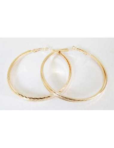 Créoles fantaisie anneaux superposés 6 cm