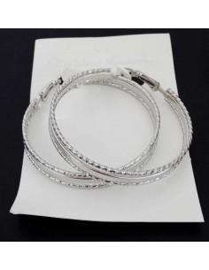 Créoles fantaisies anneaux enchevêtrés 6 cm