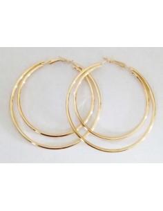 Créoles anneaux tailles dégradées 6 cm