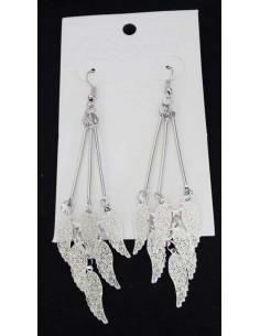 Boucles d'oreilles pendantes ailes d'ange filigranes