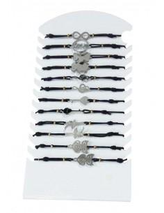 12 bracelets acier fantaisie
