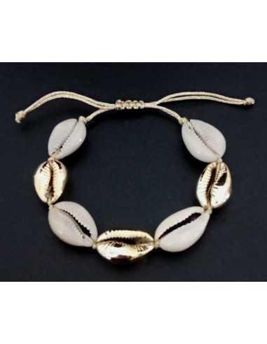 Bracelet véritable cauri taille ajustable