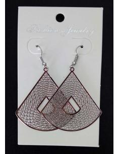 Boucles d'oreilles fantaisies pendantes géométriques filigranes