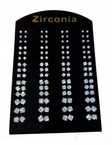 60 Paires B.O puces avec zirconium cubique