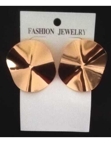 Boucles d'oreilles fantaisie boutons dorées