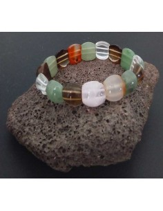 Bracelet pierres naturelles mélange forme arrondie