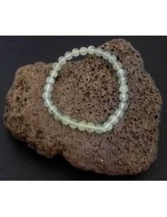 Bracelet préhnite pierres boules 7 mm