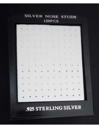 120 piercings argent 925 zirconiums