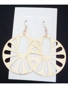 Boucles d'oreilles fantaisie rondes larges avec motifs