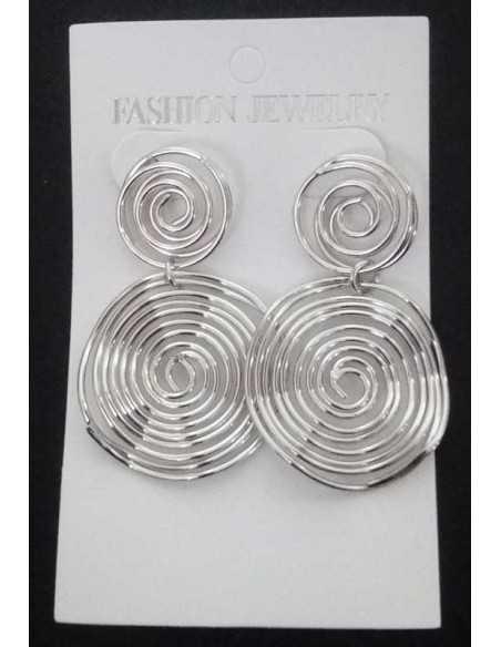 Boucles d'oreilles créoles spirales géométriques pendantes