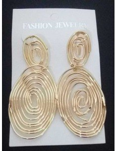 Boucles d'oreilles créoles ovales spirales géométriques