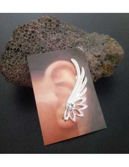 Bijoux d'oreilles ailes de cygnes fantaisie