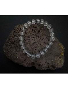 Bracelet quartz hematoide foncé pierres boules 10 mm