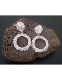 Boucles d'oreilles rondes pendantes