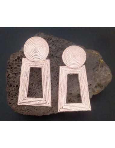 Boucles d'oreilles rectangulaires pendantes