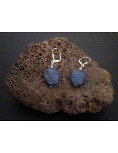 Boucles d'oreilles lapis-lazuli ovales 2 cm