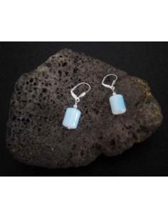 Boucles d'oreilles pierre de lune cubiques 1 cm