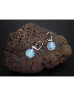 Boucles d'oreilles opale pierre boules 10 mm