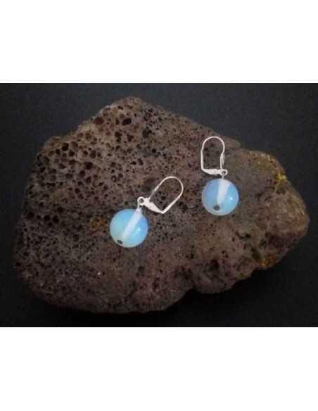 Boucles d'oreilles pierre de lune pierre boules 10 mm