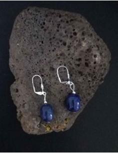 Boucles d'oreilles lapis-lazuli 2 cm