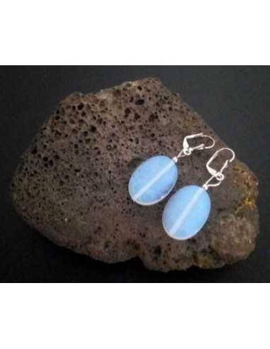 Boucles d'oreilles pierre de lune ovales