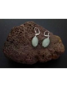 Boucles d'oreilles aventurine pierre tambour