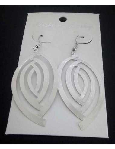 Boucles d'oreilles fantaisie gouttes demi spirales graphiques